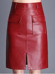 OL-Style-Cutout-Slit-Plain-A-Line-Midi-PU-Skirts