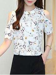 Open-Shoulder-Printed-Short-Sleeve-T-Shirt