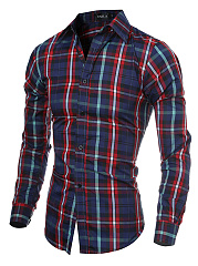 Multi-Color Plaid Men Shirts