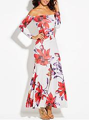 Hooded-High-Slit-Floral-Printed-Mermaid-Maxi-Dress
