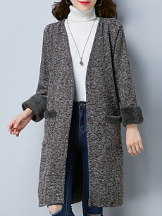 Collarless  Assorted Colors Coat