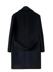 Lapel Plain Flap Pocket Woolen Coat