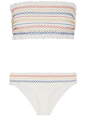 Strapless-Smocked-Bodice-Ruffle-Trim-Printed-Bikini