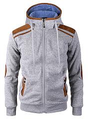 Color-Block-Men-Hooded-Pocket-Coat