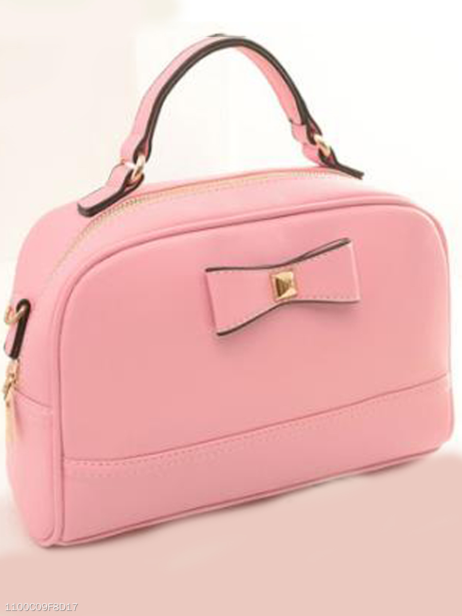 Candy Color Leisure Bowknot Bag Handbag