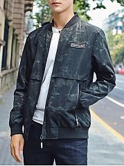 Band-Collar-Camouflage-Pocket-Men-Jacket