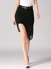 Asymmetric-Hem-Plain-Pencil-Midi-Skirt