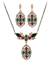 Bohemian Style Necklace And Earring