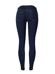 Trendy Ripped Patch Pocket Slim-Leg Jean