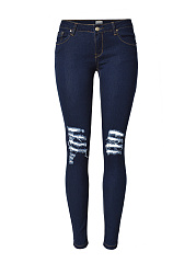 Trendy-Ripped-Patch-Pocket-Slim-Leg-Jean