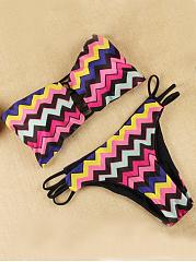 Strapless-Hollow-Out-Zigzag-Striped-Bikini