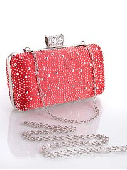 Vintage Polka Dot Clutch Bag