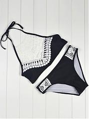 Halter-Decorative-Lace-Hollow-Out-Bikini