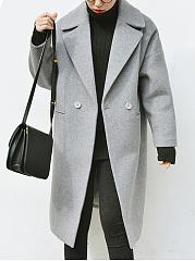 Lapel-Plain-Pocket-Woolen-Coat