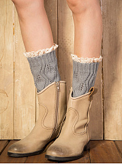 Hollow Out Lace Leg Warmers