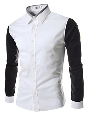 Modern-Color-Block-Turn-Down-Collar-Men-Shirts