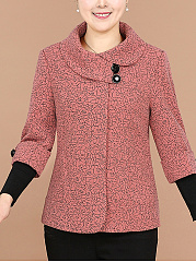 Lapel-Printed-Patchwork-Long-Sleeve-Coat