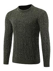 Crew-Neck-Embossed-Plain-Mene28099S-Sweater