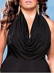 Plain Plus Size One Piece