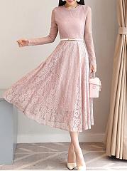 Round-Neck-Plain-Lace-Maxi-Dress