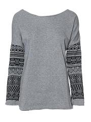 Casual-Tribal-Printed-Round-Neck-Long-Sleeve-Sweatshirts