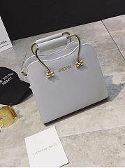 Gold-Handle-Squared-Pu-Shoulder-Bag
