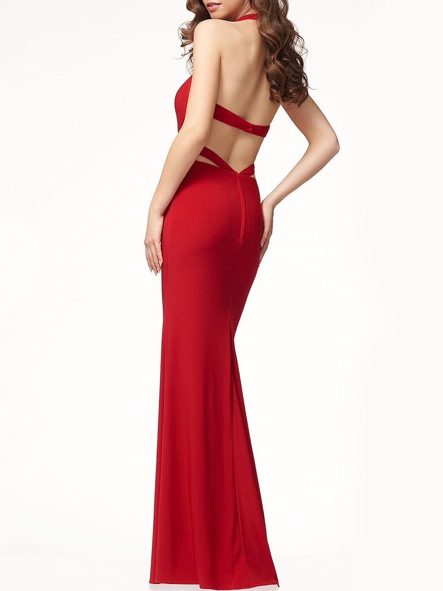 V-Neck  Hollow Out Maxi Dress