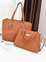 Stylish Plain Color  Women Bag Set (4 Pieces)