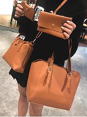 Stylish-Plain-Color-Women-Bag-Set-(4-Pieces)