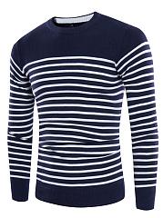 Crew-Neck-Striped-Mene28099S-Sweater