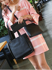 Three Pieces Basic Shoulder Bag Set