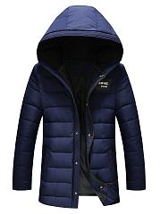 Men-Hooded-Plain-Pocket-Quilted-Padded-Coat