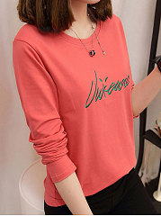 Round-Neck-Embroidery-Plain-Long-Sleeve-T-Shirts