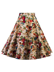 Gorgeous-Floral-Printed-Flared-Midi-Skirt