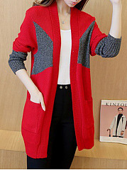 Color Block Knit Cardigans
