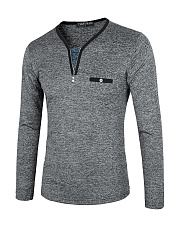 Men's Collar Zip Knit Sweater