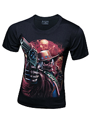 Trendy Men Monster Printed Round Neck T-Shirt