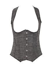 Women-Sexy-Linen-Body-Shapers-Steel-Bones-Waist-Trimmer-Corsets