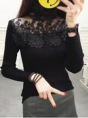 Decorative-Lace-Plain-Sweaters