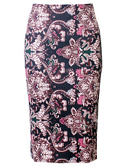 Gorgeous-Printed-Slit-Pencil-Midi-Skirt