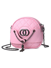 Quilted Round Pu Chain Crossbody