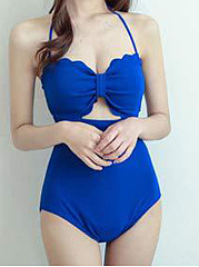 Cute Hollow One-Piece Swimsuit