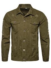 Distressed-Flap-Pocket-Plain-Men-Jacket