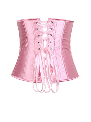 Lace-Up Single Breasted Plain Corset