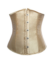 Lace-Up-Single-Breasted-Plain-Corset