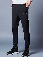 Color-Block-Letters-Pocket-Slim-Leg-Mens-Casual-Pants