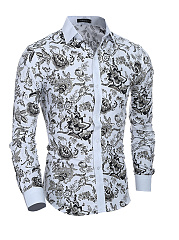 Mens-Vintage-Printed-Casual-Shirt