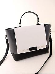 Color-Block-Pu-Shoulder-Bag