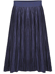 Elastic-Waist-Plain-Pleated-Midi-Skirt