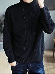 High-Neck-Plain-Mene28099S-Rib-Knit-Sweater